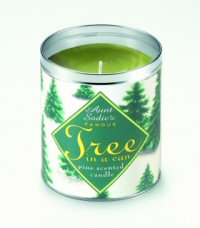Tree in a Can pine scented Christmas candle